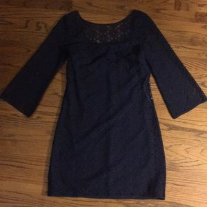 Navy lace lilly pulitzer low back dress